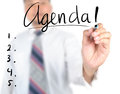 Businessman writing agenda use for layout design background Royalty Free Stock Photography