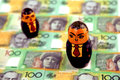 Businessmen with Australian money Royalty Free Stock Photo