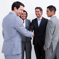 Businessmen greeting each other Royalty Free Stock Photography