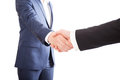 Businessmen handshake two Royaltyfria Foton