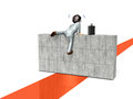 Businessmen have to overcome the obstacle businessman is climbing wall it express Royalty Free Stock Image