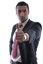Businessmen making his thumb up saying OK Stock Image