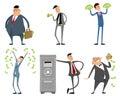 Businessmen with money