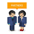 Businessmen partners illustration format eps Royalty Free Stock Image