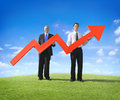 Businessmen with Red Arrow Royalty Free Stock Photo