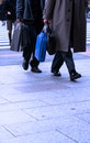 Businessmen shopping Stock Image