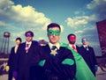 Businessmen Superhero Team Confidence Concepts Royalty Free Stock Photo