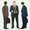 Businessmen talking business men having a conversation Royalty Free Stock Image