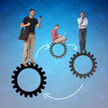 Businessmen team work Royalty Free Stock Photo