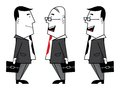 Businessmen vector illustration of the Royalty Free Stock Photos