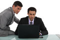 Businessmen working together on a project Royalty Free Stock Photography