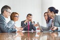 Businesspeople arguing in meeting Royalty Free Stock Photo