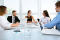 Businesspeople in a meeting at office Royalty Free Stock Photo