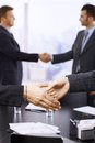 Businesspeople shaking hands Royalty Free Stock Photo