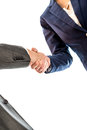 Businesspeople shaking hands to close a business deal Royalty Free Stock Photo
