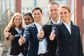 Businesspeople Showing Thumb Up Sign Royalty Free Stock Photo