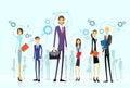 Businesspeople team group human resource flat design vector illustration Stock Photo