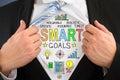 Businessperson Showing Smart Goal Concept On Shirt