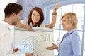 Businessteam discussing diagram Stock Photo