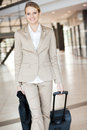 Businesswoman at airport Royalty Free Stock Photos