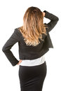 Businesswoman From the Back Royalty Free Stock Photo