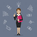 Businesswoman business idea illustration format eps Royalty Free Stock Photos