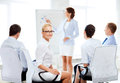 Businesswoman on business meeting in office picture of smiling Royalty Free Stock Photography