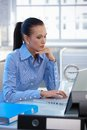 Businesswoman busy working Royalty Free Stock Photography