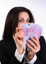 Businesswoman with cash Stock Images
