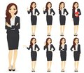Businesswoman character set Royalty Free Stock Photo