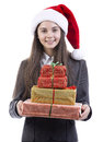 Businesswoman Christmas portrait Royalty Free Stock Photography