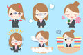 Businesswoman do different emotion