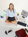 Businesswoman doing yoga Royalty Free Stock Photo
