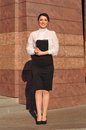 Businesswoman full lenth portrait Royalty Free Stock Photo