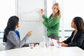 Businesswoman giving presentation to colleagues female Royalty Free Stock Images