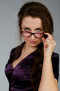 Businesswoman in glasses Royalty Free Stock Images