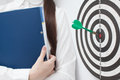 Businesswoman and good result bullseye Stock Images