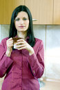 Businesswoman having a break with coffee Royalty Free Stock Photos