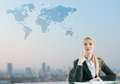 Businesswoman imagine of globalization business concept Stock Images