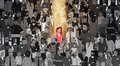 Businesswoman Leader Stand Out From Crowd Individual, Spotlight Hire Human Resource Recruitment Candidate People Group