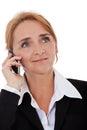 Businesswoman making phone call Royalty Free Stock Photo