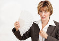 Businesswoman  in Menopause Stock Image