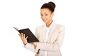 Businesswoman with a notebook. Royalty Free Stock Photo