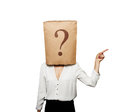 Businesswoman with paper bag Royalty Free Stock Photo