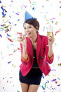 Businesswoman party Stock Photo