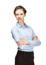 Businesswoman posing on white background Royalty Free Stock Photos