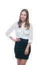 Businesswoman or secretary smiling Royalty Free Stock Photo