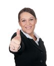 Businesswoman shows thumb up Royalty Free Stock Photos