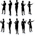 Businesswoman Silhouette Collection Royalty Free Stock Photos