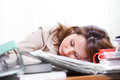 Businesswoman sleeping Royalty Free Stock Photography